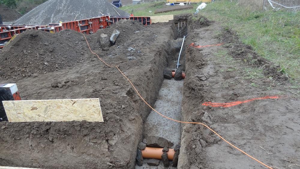 Prostupy na přívod elektřiny a vody