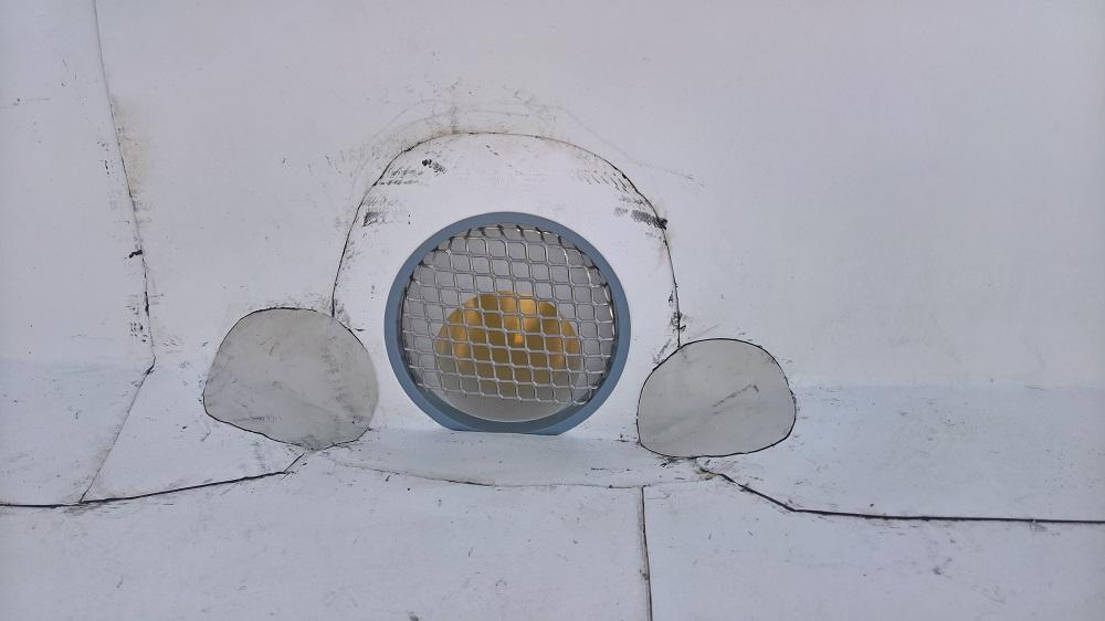 Chrlič pro odtok dešťové vody ze střechy