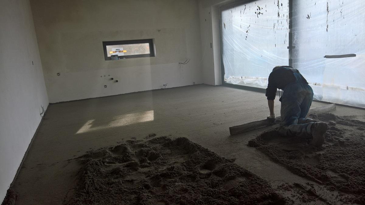 Skladba podlah s podlahovým vytápěním