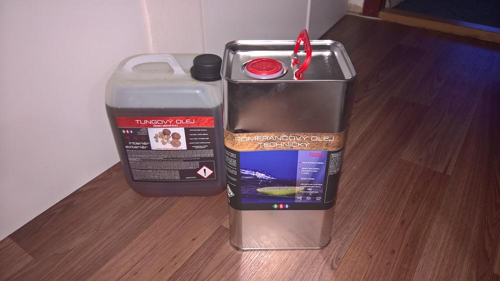 Použité oleje na nábytek