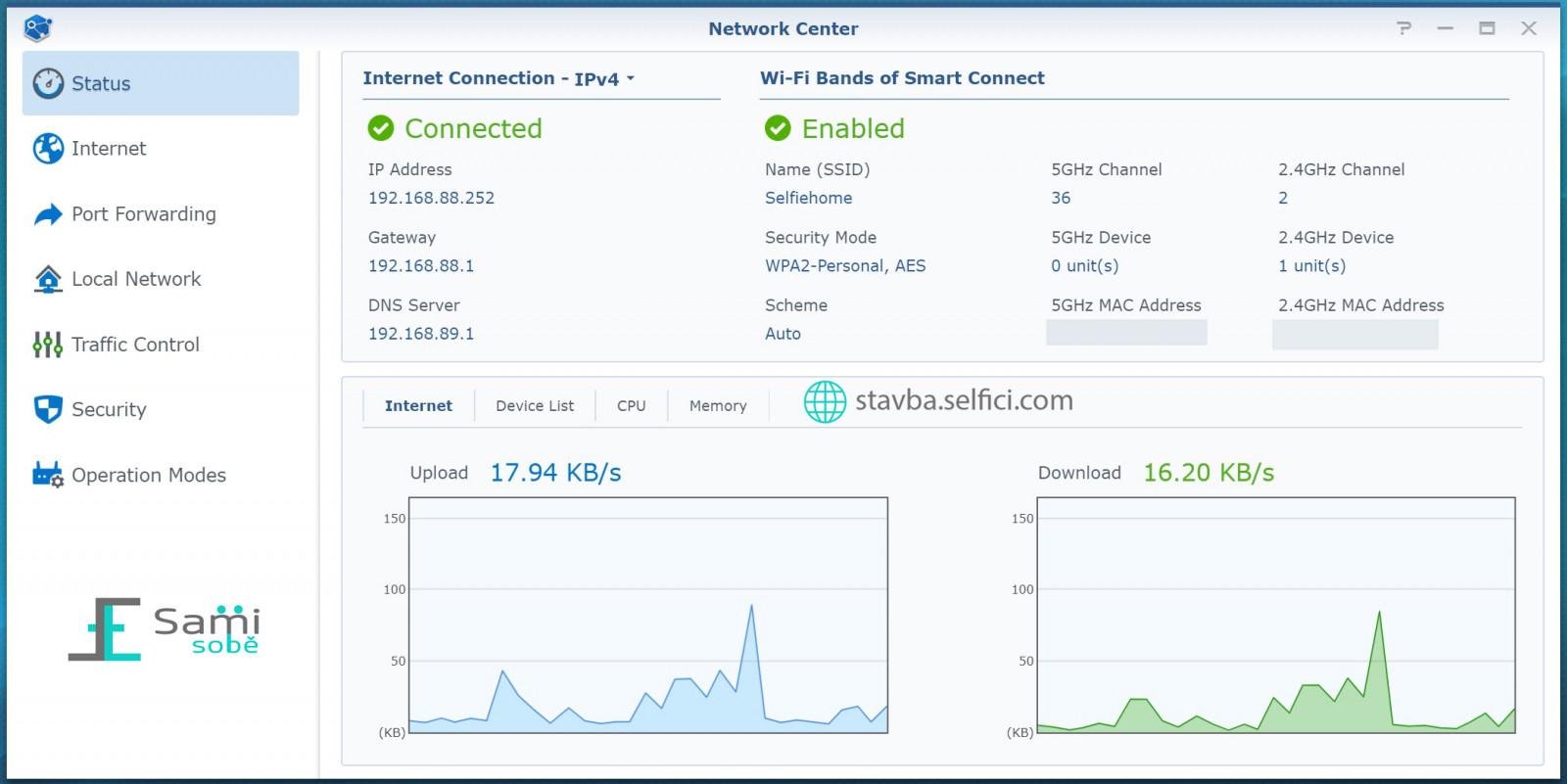 Konfigurace routeru Synology RT2600ac