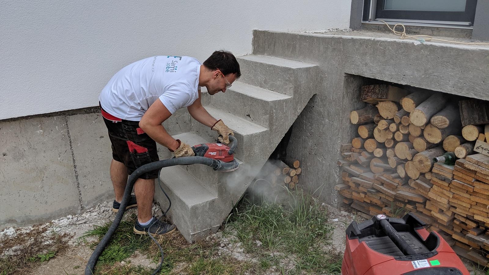 Broušení a opravy betonu